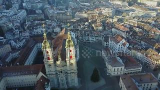 Stunning drone footage of St Gallen in Switzerland - Video