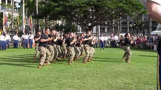US Soldiers Perform Hawaiian Warrior Dance at Pearl Harbor Anniversary Ceremony - Video