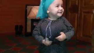 Baby Dressed As Miniature Grandmother Shakes Her Booty  - Video
