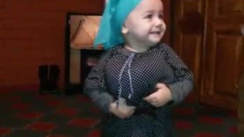 Baby Dressed As Miniature Grandmother Shakes Her Booty