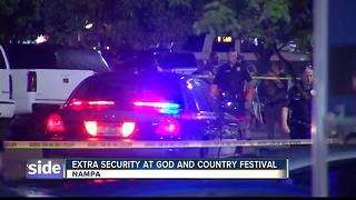 Extra security at God and Country Fest