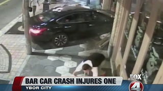 Caught on camera: Car hits pedestrian, crashes into Ybor City business - Video