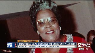 Muskogee says goodbye to community leader - Video