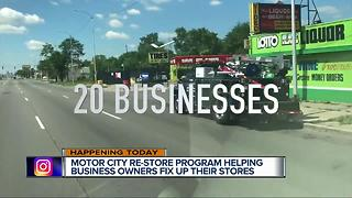 Motor City Re-Store program helping business owners fix up their stores - Video