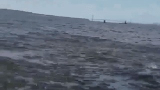 Huge Humpback Whale Breaches Just Inches Away From Boat Off New Jersey - Video
