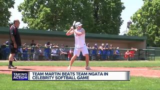 Team Martin beats Team Ngata in celebrity softball game - Video