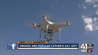 Drones flying off the shelves for Father's Day - Video