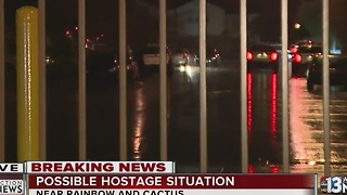 Possible hostage situation near Rainbow and Cactus Avenue - Video