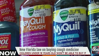 New Florida law on buying cough medicine - Video