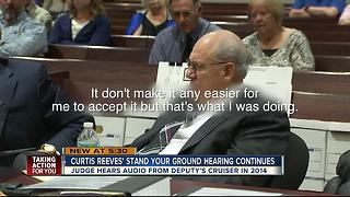Judge hears audio from deputy's cruiser in 2014 during Curtis Reeves' stand your ground hearing