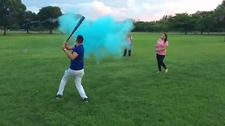 Most epic baby gender reveal ever! - Video