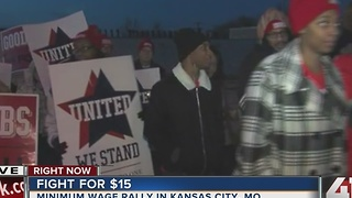 Fight for $15: Minimum wage rally in KCMO - Video