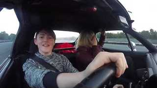 Teenage Stunt Driver Takes His Former Childminder for a Spin - Video