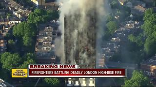 At least 6 killed in massive London high-rise blaze - Video