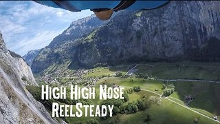 Amazing Video Shows Base Jump in Swiss Mountain Valley - Video