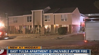 Several people displaced after overnight apartment fire - Video