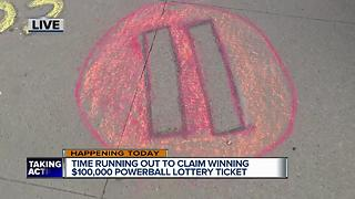 Time is running out to claim winning Powerball lottery ticket