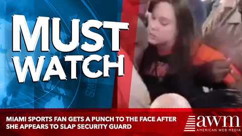 Miami Sports Fan Gets A Punch To The Face After She Appears To Slap Security Guard