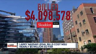 Larry Nassar legal bills cost MSU nearly $5 million so far - Video