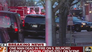 1 man dead in fatal fire on S. Belnord Ave. in Canton - Video