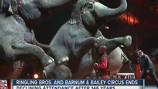 Ringling Brothers and Barnum and Bailey Circus coming to an end - Video