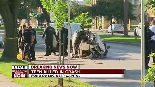 19-year-old dead in single car crash - Video