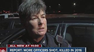 Report: More officers shot, killed in 2016 - Video