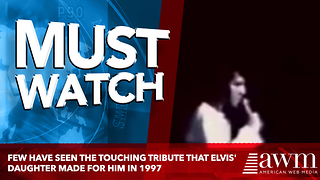 Few Have Seen The Touching Tribute That Elvis' Daughter Made For Him In 1997 - Video