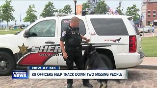 Erie County Sheriff's K9 Teams Find Two Missing People - Video