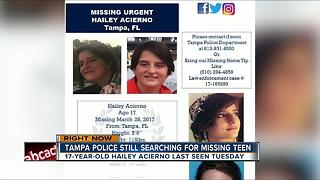 Tampa police still searching for missing teen