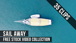 Stock Video Footage Collection : Sea, Waves, Boat, Yacht and Lifestyle. Royalty Free video content.