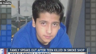 Father of teen killed in smoke shop during attempted robbery speaks out - Video