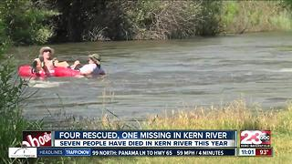 Woman still missing after going into the Kern River near Hart Park - Video