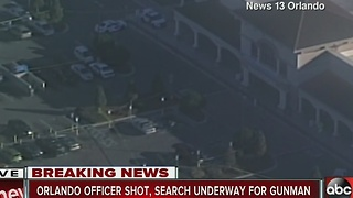 Orlando officer shot, search underway for gunman - Video