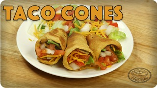 Crescent roll recipes: Taco cones