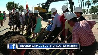 Crews break ground on the St. Pete Pier - Video