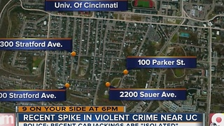 Recent spike in violent crime near University of Cincinnati - Video