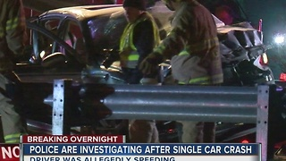 One dead in single-car accident on BA Expressway - Video