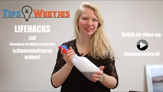 Zelf goedkoop schoonmaakspray maken! - Make your own cheap cleaning spray! | Tips en Weetjes - Video