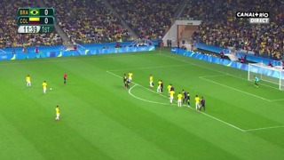 Neymar JR Amazing Long Range Free Kick Goal vs Colombia | Rio 2016 - Video