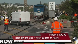 Train hits and kills 71-year-old man on tracks - Video