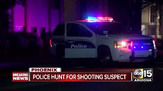 Police searching for shooting suspect in Phoenix - Video