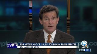 Boil water notice issued for Indian River Estates