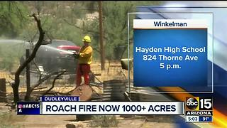 Community meeting on Roach Fire scheduled for Sunday night - Video