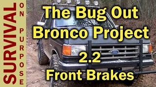 How To Replace The Front Brakes On A Full Size Bronco - Video