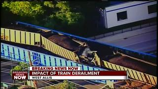 Lanes open after train derailment - Video