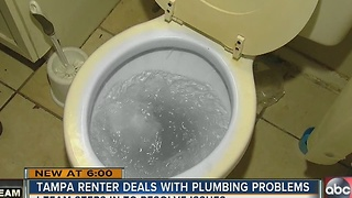 Tampa renter deals with plumbing problems - Video
