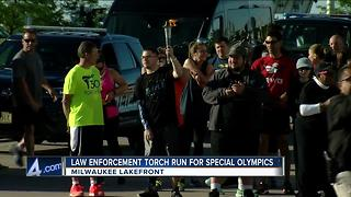 Law enforcment torch run for Special Olympics - Video