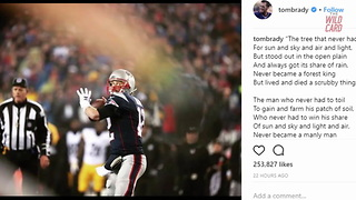 Tom Brady Posts Cryptic Poem On Instagram - Video