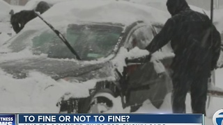 Could New York State issue fines for snowy cars?